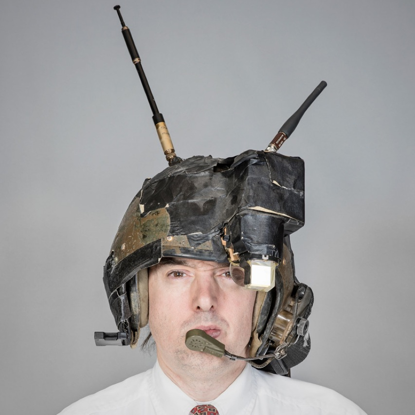 Early Head Mounted Display from late 1970s worn by its inventor, Steve Mann