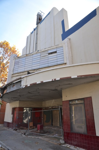 The Park Theatre, just before its demolition.