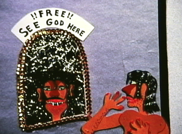 "Chico Madrid searching for God. Frame from ""The Secrete of Life"" 1971"