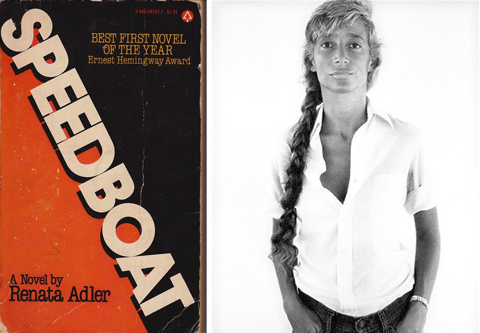 Cover of Speedboat with author's photo by Avedon.
