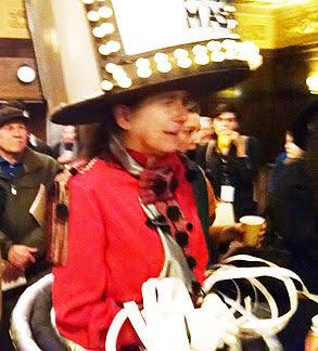 Dancer Pat Oleszko in the Michigan Theatre lobby, following her 3/29/15 AAFF performance, still costumed.  Photo credit: Barbara Olencki.