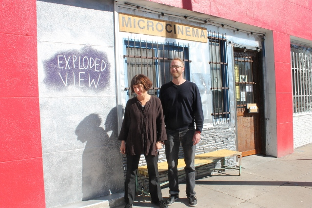 Rebecca Barton and David Sherman outside Exploded View